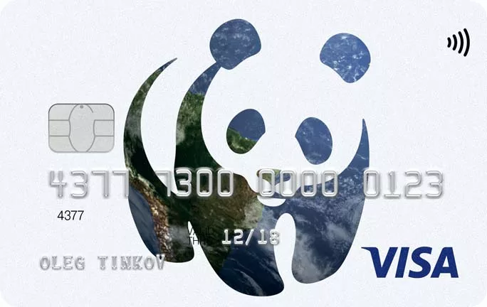 Дебетовая карта Тинькофф WWF